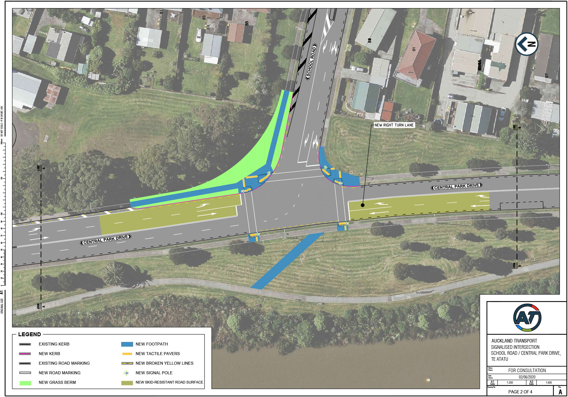 Plans for School Rd?Central Park Drive intersection