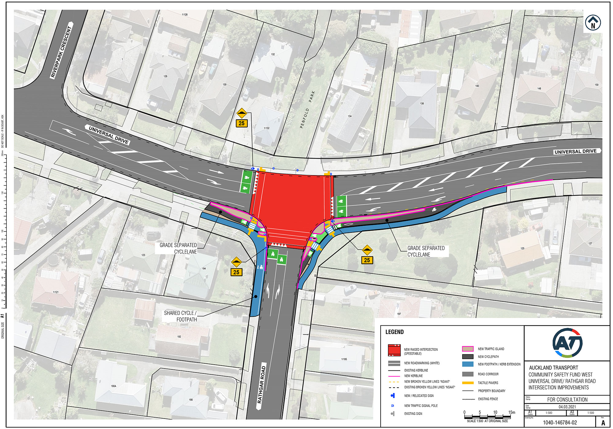 Technical plan for Universal Drive/Rathgar Rd